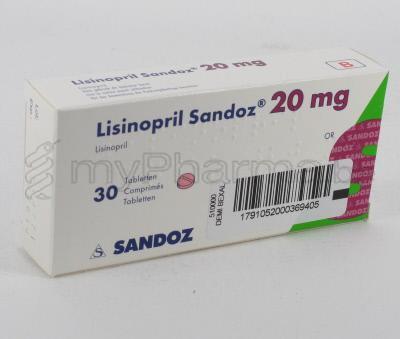 Cost of lisinopril 20 mg