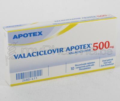 HOOFDSITE Apotheker 3990 Peer : VALACICLOVIR APOTEX 500 MG