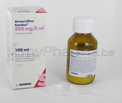 HOOFDSITE Apotheker 3990 Peer : AMOXICILLINE SANDOZ 500MG